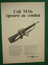 2/1973 PUB COLT FIREARMS COLT M16 FUSIL 5.56 MM  ORIGINAL FRENCH ADVERT