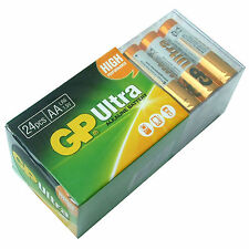 PACK of 24 AA BATTERIES GP ULTRA ALKALINE HIGH POWER 15AU LR6 MN1500 EXPIRY 2022