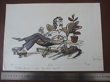 "1970s di marca Eames? Sedia Penna E Inchiostro ORIG 20th C ILLUSTRATO ""BILL Hewison"" ARTE MODIFICA"