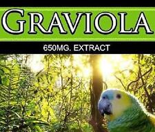 Pure Graviola 650mg Pills Immune System Support Parasites Mood Anxiety Tablets