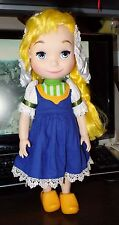 "Disney It's a Small World DOLL Animators Holland Singing 16"" Tall Dutch English"