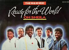 """READY FOR THE WORLD disco MIX 12"""" 45 g. 1985 MADE IN UK Oh Sheila THE M & M MIX"""