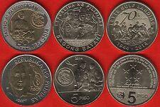 Philippines set of 3 coins: 5 - 10 piso 2014 UNC