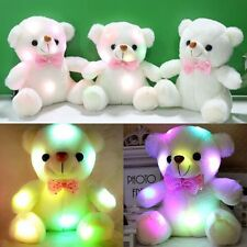 HOT! Stuffed Night Light LED Plush Teddy Bear Soft Gift Doll BabyKids Xmas Toys