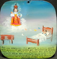 Mexican Retablo Exvoto for Child of Praga by Patient Witness to Divine Presence