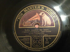 """EDNA THORNTON """"Softly Awakes My Heart""""/""""When All Was Young"""" 78rpm 12"""" 1919 EXC"""