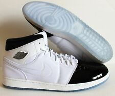 NIKE AIR JORDAN 1 RETRO 95 TXT WHITE-BLACK-DARK CONCORD SZ 18 [616369-195]