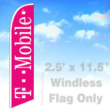 Flag Only 2.5' WINDLESS Swooper Feather Full Sleeve Sign - T-MOBILE pb