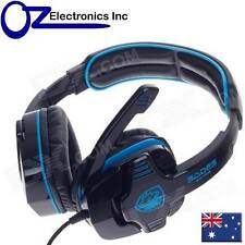 SADES GPOWER 708 Stereo PC Gaming Headset Headphones Noise Cancel Mic Brand New