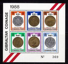 103012/ Gibraltar 1989 - Bl. 14 - Münzen - **