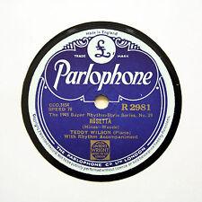 """TEDDY WILSON (Piano Solo) """"Rosetta / China Boy"""" (E+) PARLOPHONE R-2981 [78 RPM]"""