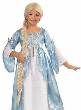 Rapunzel Wig Child Kids Girls Long Braided Blonde Tangled Princess Costume