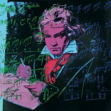 Beethoven Pink Book by Andy Warhol Art Print 1990 Offset Lithograph Poster 38x38