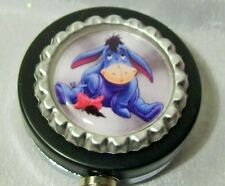EEYORE HEAVY DUTY BADGE REEL keychain key id holder metal Disney Donkey