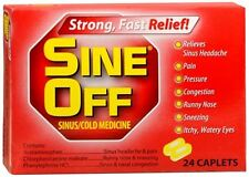 Sine-Off Sinus/Cold Medicine Caplets 24 Caplets (Pack of 8)
