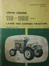John Deere 110 Round Fender Garden Tractor Owners & Parts Manual 84pg 40,000- L5