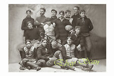 VINTAGE 1895 PHOTO AFFECTIONATE YOUNG MEN ON FOOTBALL TEAM GAY INTEREST 139