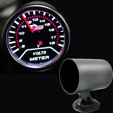 "2"" 52mm Car Universal Pointer Volt Voltage Gauge Meter Smoke Tint Len + Holder"