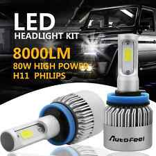 PHILIPS COB H11 80W 8000LM LED Headlight Kit  Low Beam Power Bulbs 6500K White