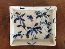 Vintage Chinese Porcelain Dresser Tray United Wilson 1897 Blue & White Stand