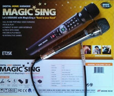 NEW MAGIC SING ET25K SPANISH ENGLISH 2000 songs karaoke Bag Binder + DUET MIC