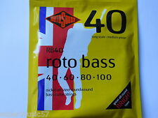 Rotosound RB40 Roto Bass Guitar Strings - Nickel Roundwound 40-100 Medium Gauge
