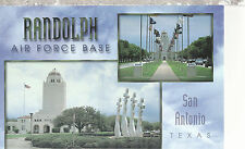 Randolph Air Force Base     San Antonio  TX    Unused Chrome Postcard 12114