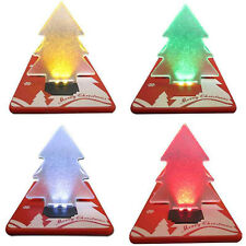 Portable Wallet Card Pocket Christmas Tree LED Card Night Light Lamp Decor Gift