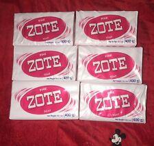6 Pack Zote Pink Laundry Soap 14 oz Bar (400g) Jabon Zote
