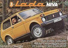 Prospekt Lada Niva Autoprospekt Geländewagen brochure broschyr brosjyre