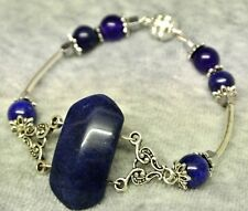 ZODIAC NATURAL SAPPHIRE GEM JEWELRY VIRGO LIBRA SEPTEMBER LUCK LOVE BRACELET