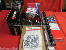 Chevy 350 5.7 MASTER Engine Kit Flat Pistons+ Torque Cam+Rings+Roller Timing