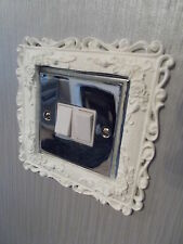 ornate roses and scrolls lightswitch surround white resin