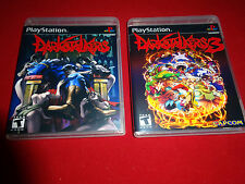 Empty Replacement Cases! Darkstalkers + Darkstalkers 3  Playstation PS1 PS2 PS3