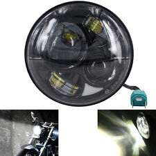 "7"" Motorcycle Black Projector Daymaker Headlight Hi/Lo LED Light For Harley"