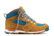 TIMBERLAND x THE HUNDREDS Men's NEW GT SCRAMBLE MID TAN BLUE BOOTS SIZE 9 43