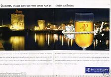 Publicité Advertising 2002 (2 pages) Vin Pineau des Charentes ... La Rochelle