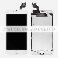 White LCD Touch Screen Digitizer Replacement Parts for iPhone 6 Plus Gold Button