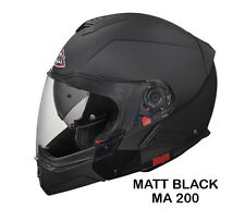 SMK Helmets - Hybrid -Unicolor-Matt Black - Flip Up Dual Visor Motorcycle Helmet
