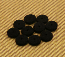 AP-0674-023 (10) Black Strap Button Felt Washers For Guitar & Bass