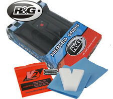 NEW R&G HEATED GRIPS FOR THE HONDA CB500 FREE V2 SPONGE VISOR CLEANING PACK