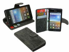 Accessori lettera shell cellulare borsa-modulo per LG P700 Optimus L7 Antracite