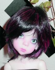 """DOLL Wig, Monique Gold """"Buttercup"""" Size 6/7  - Off Black w Pink (Unisex Wig)"""