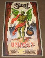 GHOST BC UNHOLY UNPLUGGED MELIORA TOUR PROMO POSTER LIMITED EDITION 2015