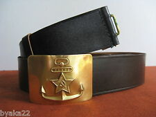 CCCP vraie ceinture en cuir  de la marin  naval soviétique URSS USSR.