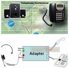 RJ9 Landline fixed phone line/3.5mm Headset headphone Earphone Adapter Converter