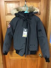 NWT Authentic Canada Goose Men's Gray Graphite Chilliwack Bomber Jacket - Size S