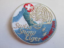 Swiss Snow Tiger 2005 Embroidered Iron or Sew On Patch- P097