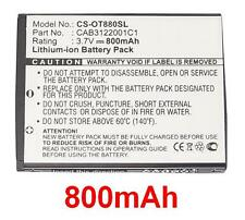 Batterie 800mAh type BY42 CAB3120000C1 Pour Alcatel One Touch 905 Chrome