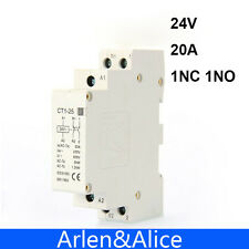 CT1 2P 20A 24V 20ampere 50/60HZ Din rail Household ac contactor 1NO 1NC